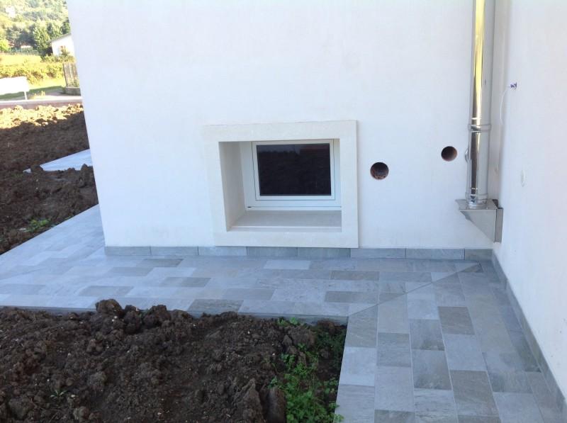 Pavimento esterno in gres porcellanato  Casa privata Brendola (Vi)