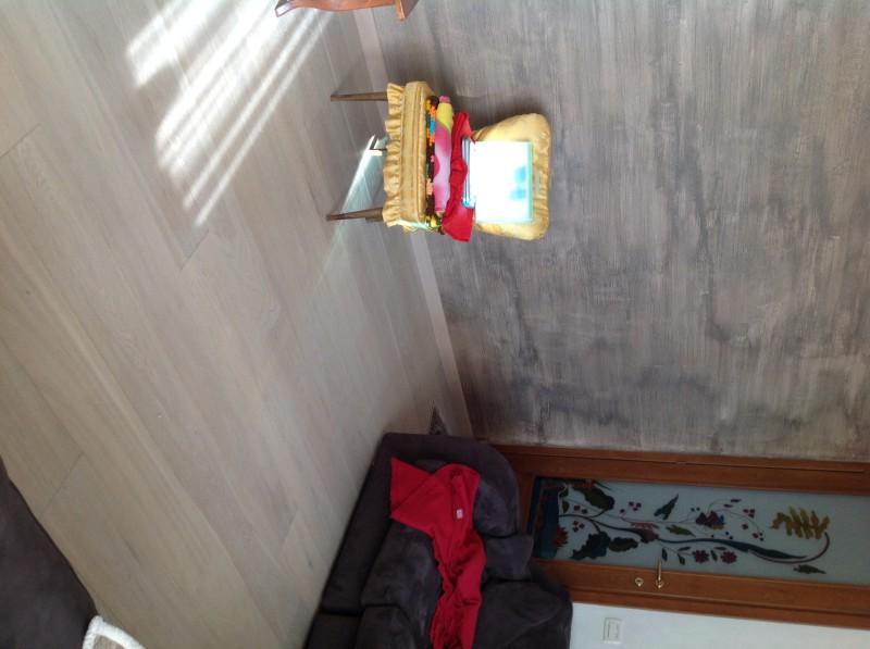 Casa privata Brendola (Vi) Pavimento legno Rovere light Grey spazzolato nodato